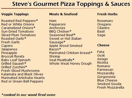 Steve S Wood Fired Pizza Coupon Discount Amp Menu 9180